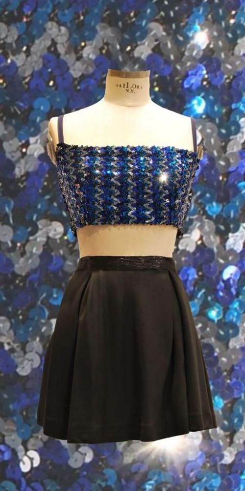 Paillettes blu