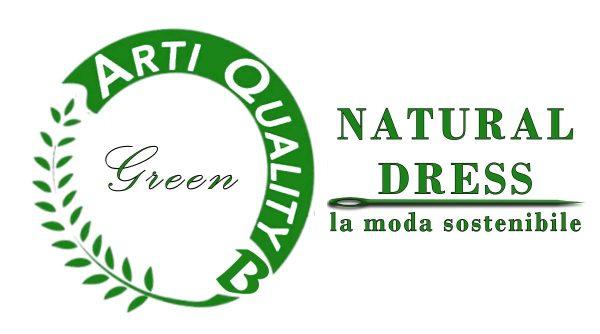 Moda sostenibile natural dress green